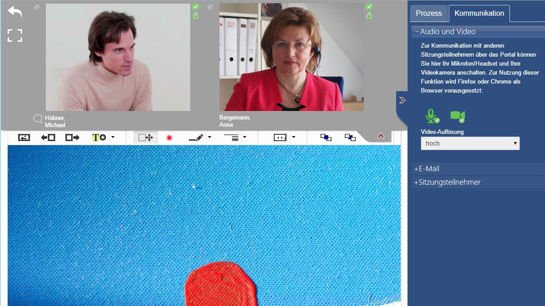07 Videokonferenz.jpg - Nutzung der Videokonferenz mit 2 Teilnehmern
